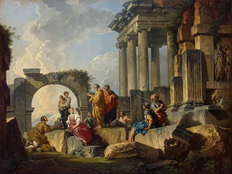 800px-Giovanni_Paolo_Pannini_-_Apostle_Paul_Preaching_on_the_Ruins_-_WGA16977