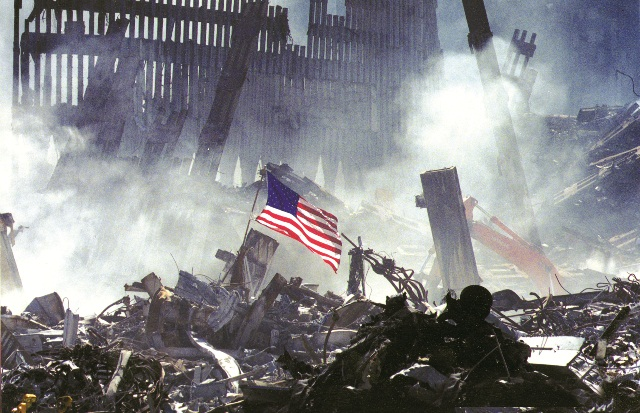 wtc-rubble-and-flag